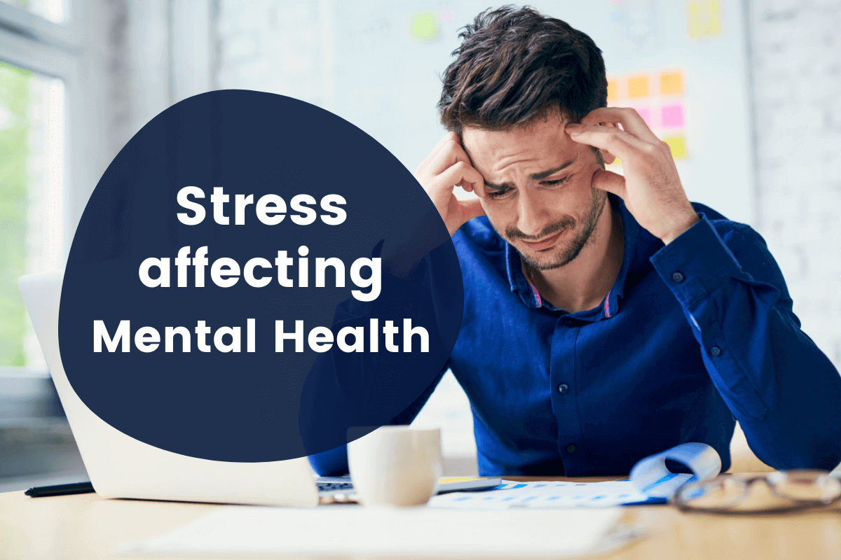 What are the key signs of stress affecting mental health?